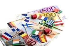 давление евро вниз Стоковое Фото
