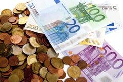 давление евро вниз Стоковое фото RF