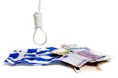 давление евро греческое вниз Стоковое Изображение