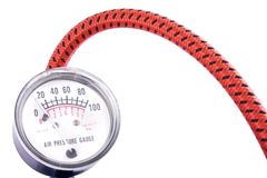 давление манометра датчика воздуха Стоковое Изображение RF