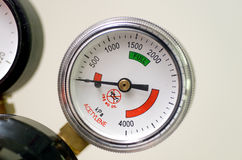 давление по манометру bourdon Стоковая Фотография RF