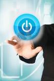 давление силы руки кнопки Стоковое Изображение RF