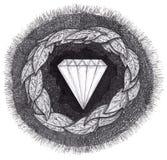 давление сформированное диамантом большое вниз Стоковая Фотография RF