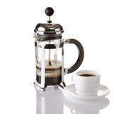 давление франчуза кофе Стоковая Фотография RF