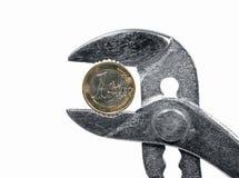 давление экономии вниз Стоковые Фото