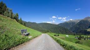 ¼ Давос-Wiesen Graubà nden взгляд Швейцарии в лете Стоковые Фотографии RF
