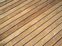 Давление обработало деревянную палубу Стоковые Фото