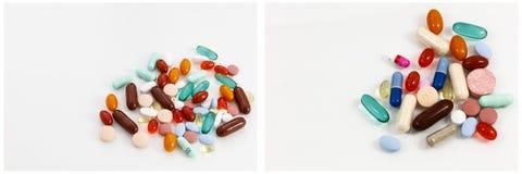 Дает наркотики дополнениям смешанным пилюльками медицинским Стоковая Фотография RF