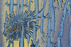 дает старые структуры краски Стоковая Фотография