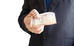 Дайте деньги Стоковая Фотография