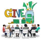 Дайте концепцию волонтера призрения пожертвования помощи Стоковые Фотографии RF
