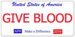 Дайте номерной знак крови иллюстрация штока