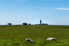 Далекий взгляд маяка в красивой окружающей среде лета Стоковые Изображения RF