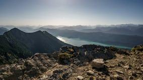 Далекий взгляд на горной цепи Стоковая Фотография