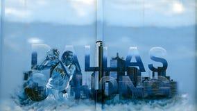 ` Далласа ` сильное, настенная роспись Josh Mittag и Theo Ponchavelli, Даллас Техас стоковое фото rf