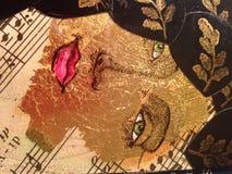 Дама в золоте Стоковая Фотография