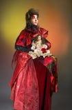 Дама в красном цвете. Стоковая Фотография RF