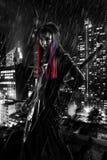 Дама В ратника дождь Стоковое Фото