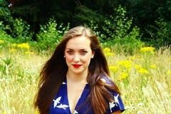 Дама в лугах 2 Стоковое Фото