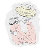 Дама в шляпе Стоковые Фото