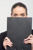Дама дела с документами Стоковая Фотография
