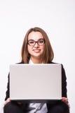 Дама дела, центр телефонного обслуживания Стоковое Изображение RF