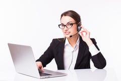 Дама дела, центр телефонного обслуживания Стоковые Изображения RF