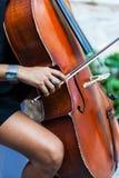 Дама играя на скрипке Стоковые Фото