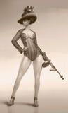 Дама и оружие Стоковые Изображения