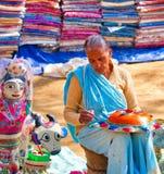 Дама на Surajkund стоковые фото