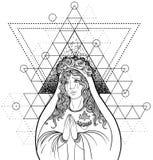Дама скорбы Преданность к безукоризненному сердцу благословленного Virg бесплатная иллюстрация