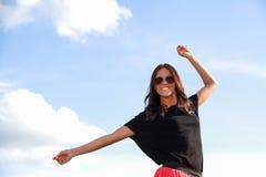 Дама снаружи Стоковая Фотография RF