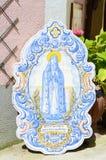 Дама Фатимы в покрашенном старом sintra керамических плиток, Португалии Стоковая Фотография RF