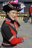 Дама этнического меньшинства Jingpo, Китай Стоковая Фотография RF