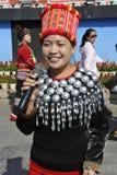 Дама этнического меньшинства Jingpo, Китай Стоковая Фотография