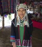 Дама Akha Таиланда индигенная стоковые изображения rf