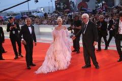 Дама Gaga, Альберто Barbera, Paolo Baratta стоковая фотография rf