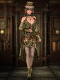 Дама Steampunk Стоковые Фото