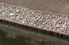 Дамба канала Стоковые Фото
