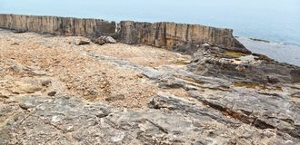 Дамба Phoenecian на Batroun, Ливане Стоковые Изображения RF