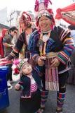 Дамы и ребенок племени холма Стоковые Изображения