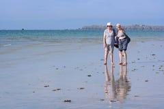Дамы на пляже Стоковое Изображение