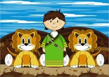 Даниель и львы Стоковое Фото