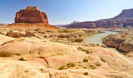 Данник пакостного реки дьявола в каньоне Глена, UT стоковое изображение