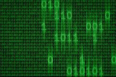 Данные по двоичной вычислительной машины цифров и течь предпосылка концепции кода стоковая фотография rf
