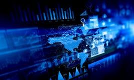 Данные по и динамика продаж Мультимедиа Стоковые Изображения RF