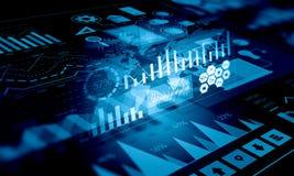 Данные по и динамика продаж Мультимедиа Стоковое Фото