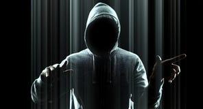 Данные по кибернетического преступления Стоковое Фото