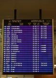 данные по отклонений доски авиапорта Стоковое Фото