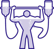 данный допинг строитель тела Стоковые Фотографии RF